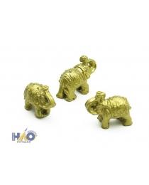 "Набор золотых статуэток ""Шесть слонов"" (6 шт.) (3х3х11 см) Т-4946"