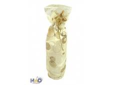 Мешок для подарков золотистый с блестками, 38 см, 1 вид