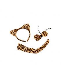 """Набор карнавал """"Леопард"""" (ободок, бабочка, хвост)"""