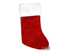 Носок для подарков Новогодний , красный (пушистый), 14x40 см Т-4271