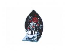 Подсвечник Цветы, стекло /48/ 038462