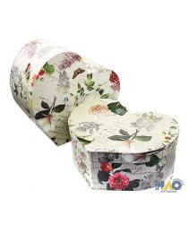 "Коробка/набор №77 Сердца 3 шт ""Цветы Ретро"" 29*24*12см"