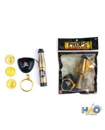 Набор пирата (наглазник, подзорная труба, монеты) ч23806