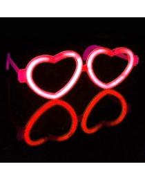 """Очки световые """"Сердечки"""" красные"""