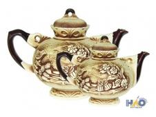 Набор чайников Карачун 2 л и 1,4 л лепка