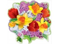 """Украшение на скотче """"Букет весенних цветов"""" 3000929"""