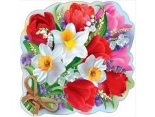 """Украшение на скотче """"Букет весенних цветов с ландышами"""" 3000931"""