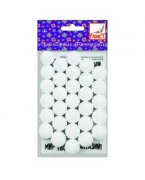 Набор шариков из пенопласта, d=20 мм, 30 шт., п/п с е/подвесом