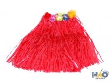 Юбка гавайская красная 40 см