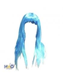 Парик длинные волосы голубые