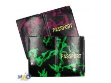 Обложка для паспорта глянцевая с надписью PASSPORT, ПВХ ОП-9908