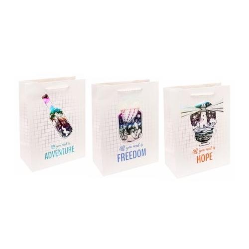 Dream cards Пакет подарочный с мат.лам.и тис.фольгой Все что нужно-надежда 18х23х10(M),210г ПКП-3449