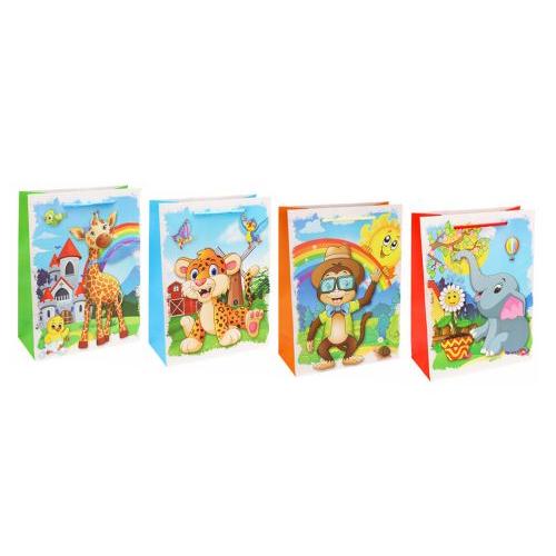 Dream cards Пакет подарочный с мат. лам. Приветливая обезьянка 26х32х10 см (L),210 г ПКП-3476