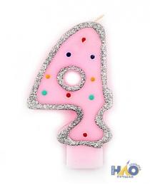 Свечи-цифры для девочек 4