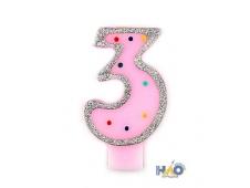 Свечи-цифры для девочек 3