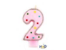 Свечи-цифры для девочек 2