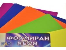 """Фоамиран А4 NEON в наборе  10 листов 5 цветов, толщина 2мм """"ASMAR"""""""