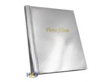 Фотоальбом  на 80 фото  10х15 Блеск,серебряный, 20 магнитных листов ФР-5516