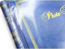 Фотоальбом  на 40 фото 10х15 Семейные моменты,синий и золотой, 10 магнитных листов ФР-5534
