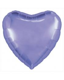 """Шар Agura Сердце """"Пастельный фиолетовый"""" однотон (19д, 46см, 25 шт) 753255"""