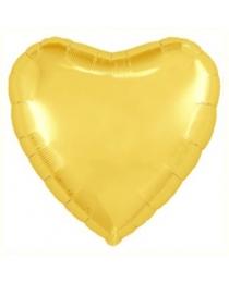 "Шар Agura Сердце ""Светлое золото"" однотон (19д, 46см, 25 шт) 753279"