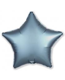 Шар Agura Звезда Стальной синий  (21 дюйм, в уп. 25 шт.) 751077