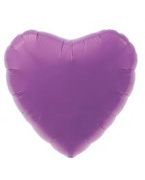 Шар Agura Сердце  Пурпурный (19 дюймов, 25 шт в уп) 750971