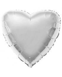 Шар Agura Сердце Серебрянный (19 дюймов, 25 шт в уп) 750919