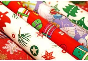 Бумага Новогодняя упаковочная в рулонах, листовая