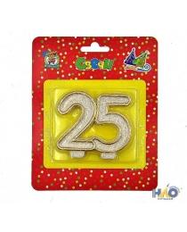 Свеча для торта. Значимые даты. Цифра 25 С-2622