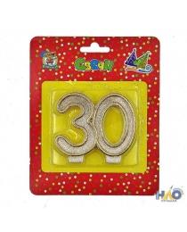 Свеча для торта. Значимые даты. Цифра 30 С-2623