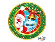 Тарелка бумажная  Веселого Нового Года (17 см ,6 шт) (6 шт) СП-6578