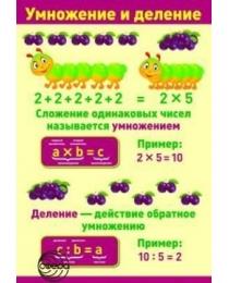 ПЛ-10822 Плакат А3 Умножение и деление В индивидуальной упаковке с европодвесом, 2000049132548