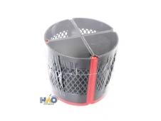 Подставка для канцелярских принадлежностей QUARTET черный+красный, диаметр 120 мм, выстота 110 мм, попоротная, разборная, полистирол+полипропилен