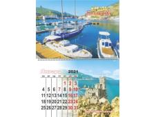 Календарь на магните Крым 2021 Расширенный № 034 Балаклава причал
