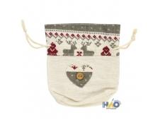 Мешок подарочный НОВОГОДНИЕ МОТИВЫ, 10*12 см, полиэстер BG7941