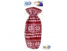Мешок для подарков НОРВЕЖСКИЕ УЗОРЫ, 1 шт, 14*24 см, в пакете, полиэстер, красно-белый N02304/КРБЕЛ