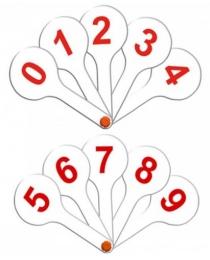 Касса (веер) цифры от 0 до 9 (НР-4868)