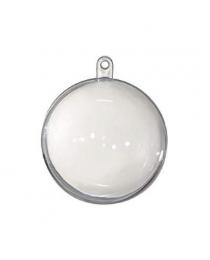 Елочное украшение шар прозрачный разборный 7 см (компл.=12 шт) ч11218