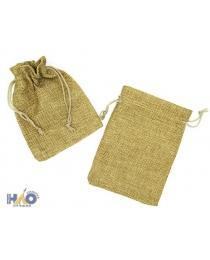 Подарочный мешок: ткань мешковина, в упаковке 50 штук, размер  13*9,5см. Отгружаем от 50 штук.