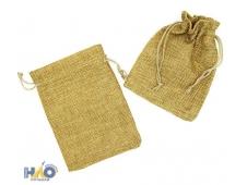 Подарочный мешок: ткань мешковина,  размер 8,5*7см.
