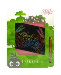 Набор д/творчества ACTION! Stella, ГРАВЮРА, 29*21см, коробка с е/п, 4 дизайна