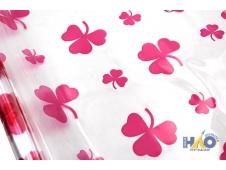 Пленка в ролике Клевер белый, розовый, сиреневый  40мкм ,200 гр 0,72*7,5м