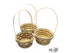 Набор корзин плетеных (бамбук) 18хH9/34, 20хH9/35, 23хH11/36 (цена за 3 шт.)