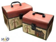 Коробка/набор из 2 шт  СУНДУЧОК  22*17*17,8 см