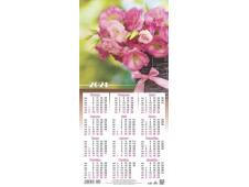 Календарь листовой 2021 Третинка 00015 розовые цветы