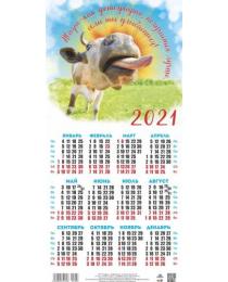 Календарь листовой 2021 Третинка 00026 Жизнь как фотография