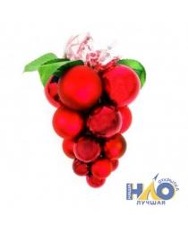 """Украшение новогоднее """"Гроздь шаров"""" красное 13 шаров ч22988"""