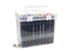 Набор скетч маркеров, 60цв. в чемодане, черный корпус AN-JP777-60В