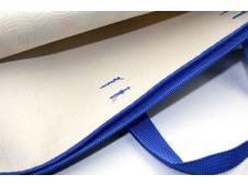 Папка менеджера СИНИЙ КВАДРАТ (ПМН-5174) принтованная ткань, капля, 360х270мм